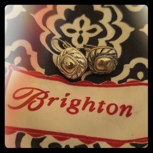 Brighton twisted silver drop earrings